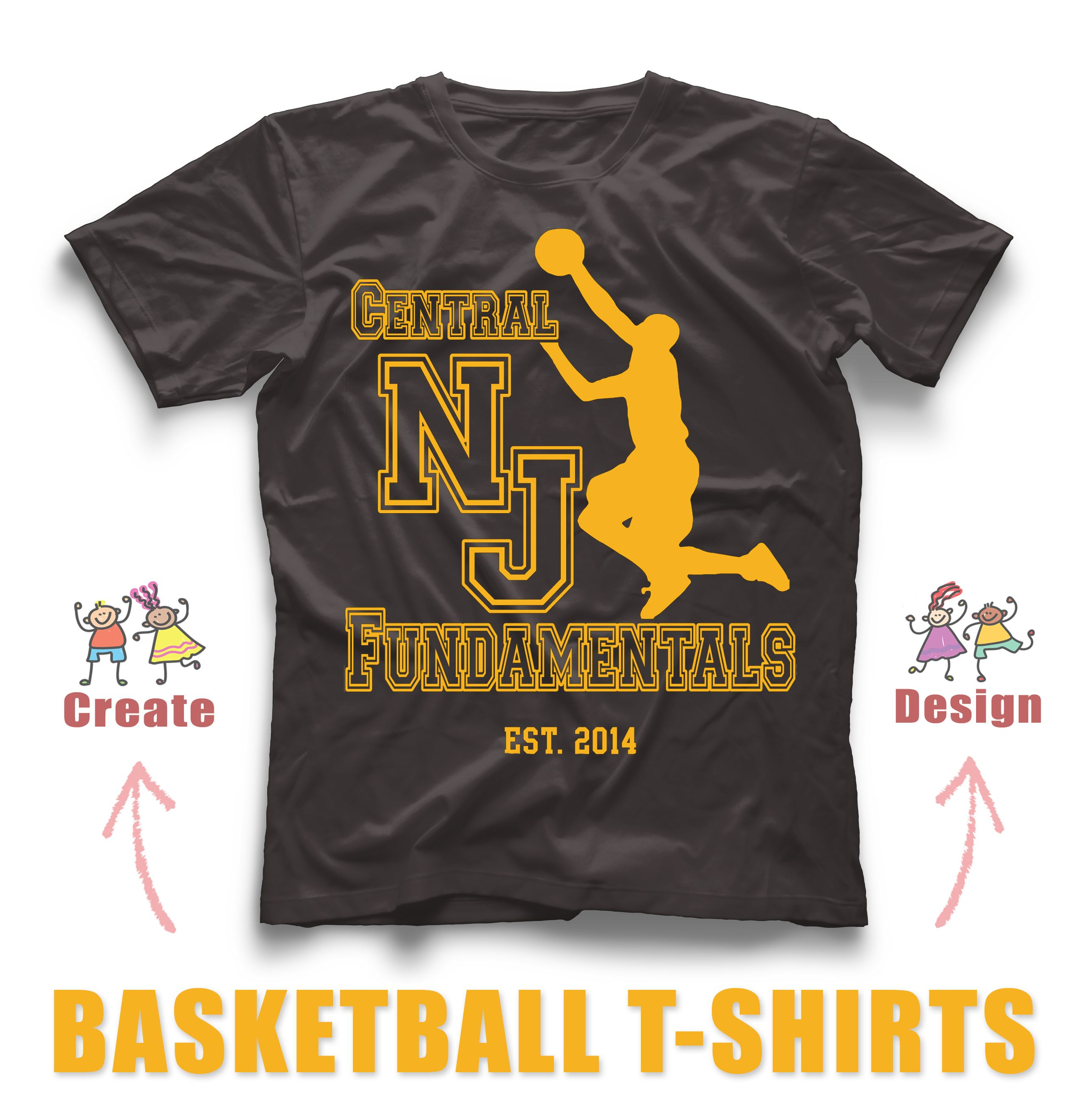 awesome custom basketball t shirt design created in our online design studio create yours - T Shirt Design Ideas Pinterest