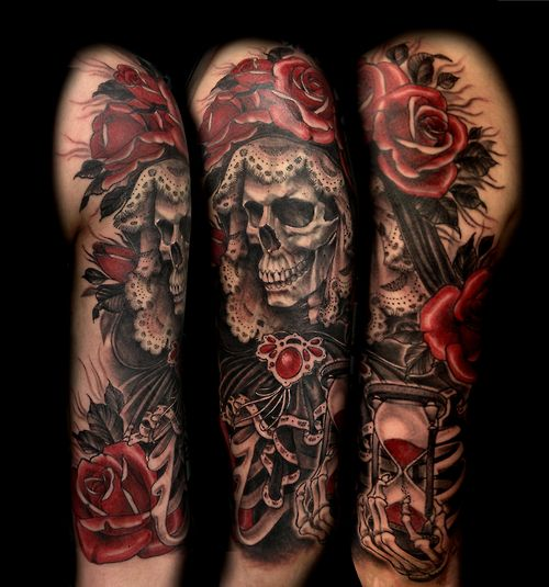 Santa Muerte for Daniela. One of my favourite subjects! | Ink ...