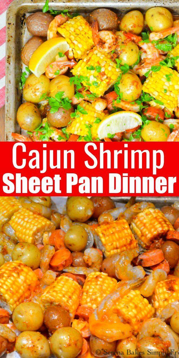 Cajun Shrimp Sausage Sheet Pan Dinner is a favorite easy ...