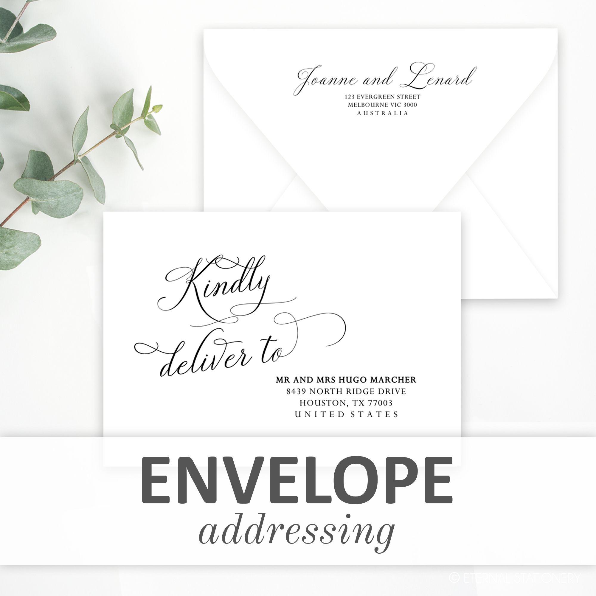 Envelope Addressing Templates in 2020 Envelope