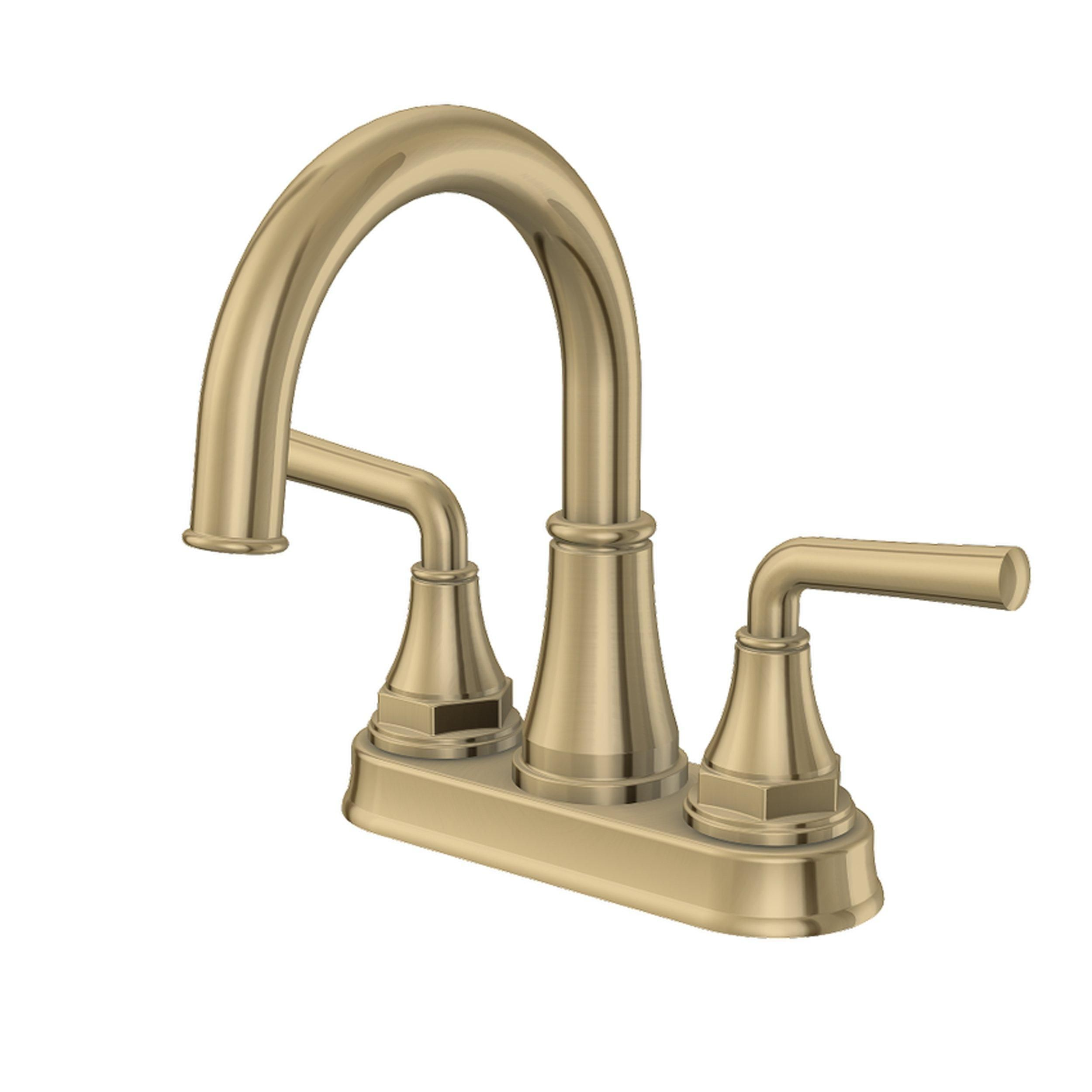 Tano 4 In Center Set Brushed Gold Faucet In 2021 Gold Faucet Gold Bathroom Fixtures Gold Bathroom 4 inch bathroom faucet