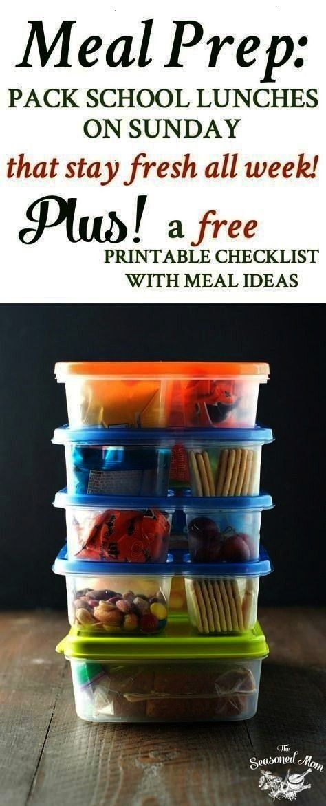 to Pack School Lunches on Sunday that Stay Fresh All Week! Meal Prep How to Pack School Lunches on