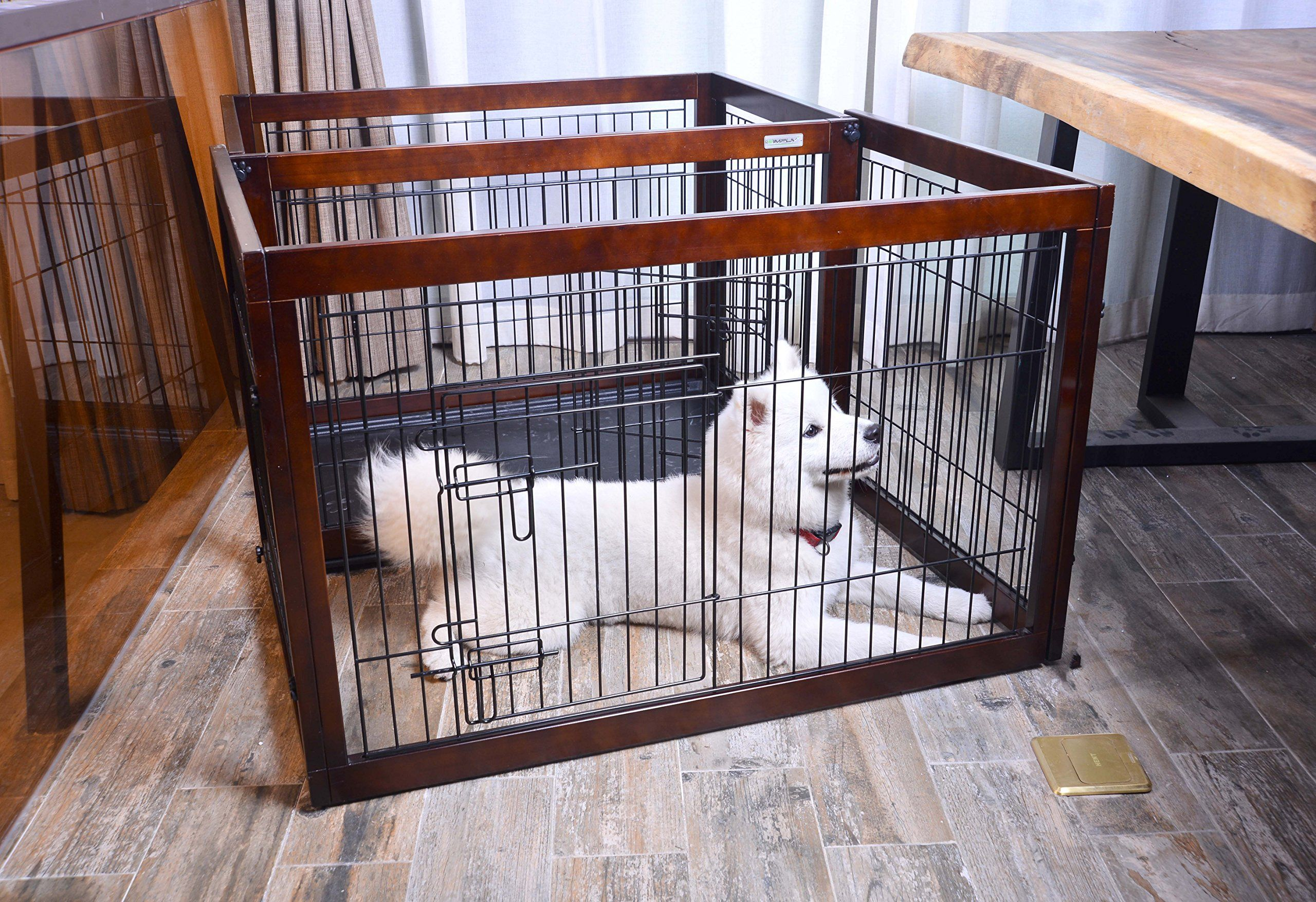 Simply Plus Dog Crate 2017newly Designed Model Solid Wooden Frame Metal W Divider And Tray Small27 6 X 20 X 23 6 Want Addit Dog Crate Crates Design Model