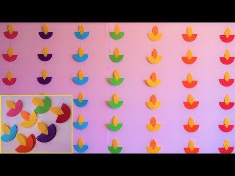 EASY DIWALI DECORATION IDEAS | DIWALI 2020 | Diya Decoration With Paper