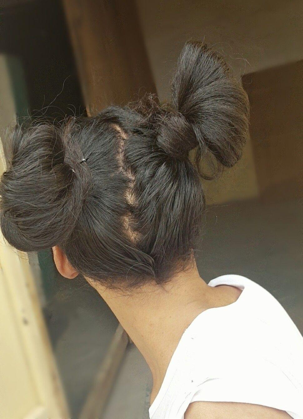 Double buns  Twins bun hairstyle  Two buns  Hair bun  #hair #style #stylish #longhair #nice #hairsty
