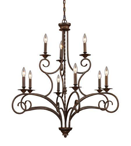 ELK 15043/6+3 Gloucester 9 Light 36 inch Antique Bronze Chandelier Ceiling  Light - ELK 15043/6+3 Gloucester 9 Light 36 Inch Antique Bronze Chandelier