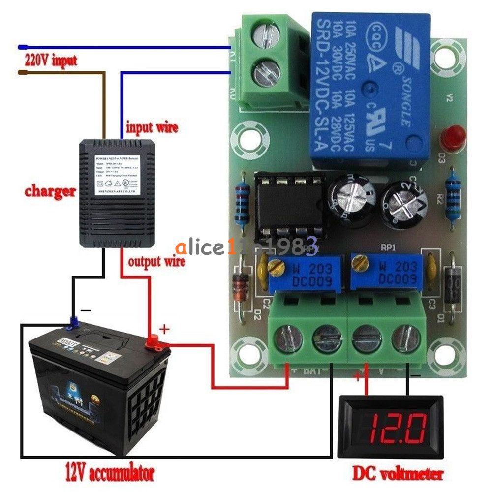 12v 24v 6 60v Battery Charging Control Board Charger Power Supply Switch Module Charger Battery Charger Circuit Smart Charger