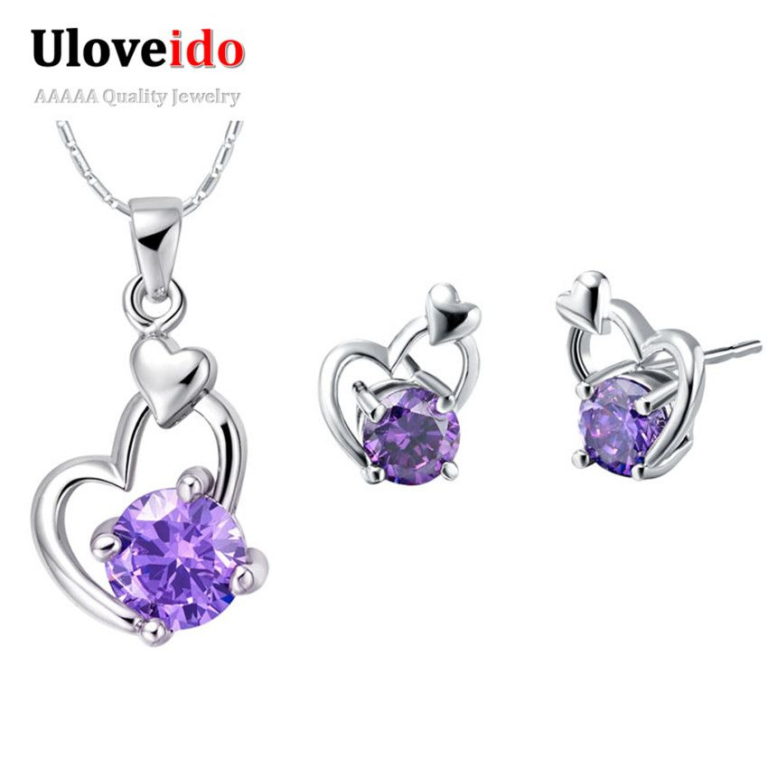 Find More Jewelry Sets Information about Colares e Brincos Conjunto de Prata 925 Joias,Amethyst Crystal Necklace Earrings Heart Jewelry Sets for Girls Party Wedding T298,High Quality set top box service,China sets Suppliers, Cheap set digital wrist watch from Ulovestore Fashion Jewelry on Aliexpress.com