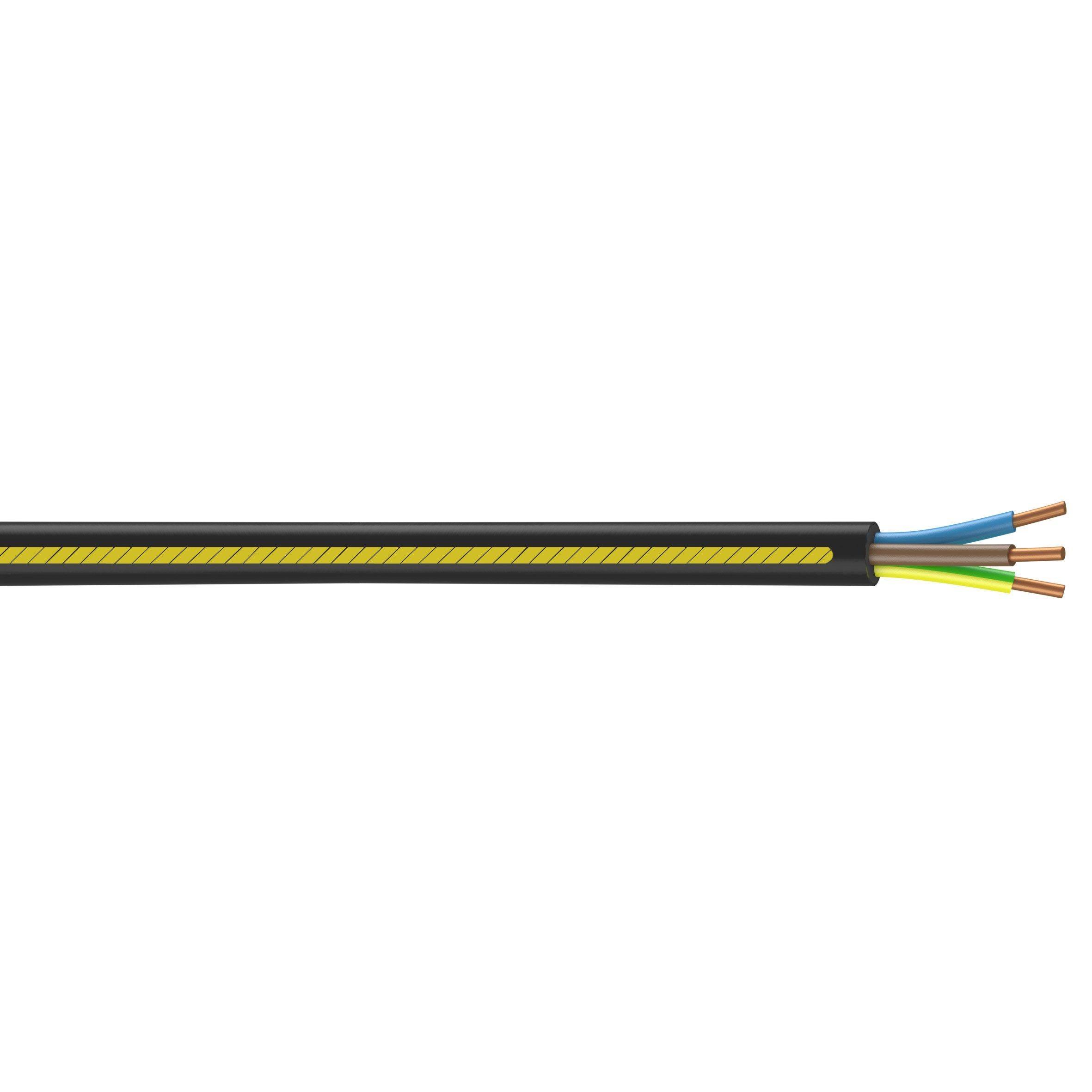 Cable Electrique U1000r2v Noir L 100 M 2 5 Mm Nexans Cable Electrique Circuit Electrique Et Electrique