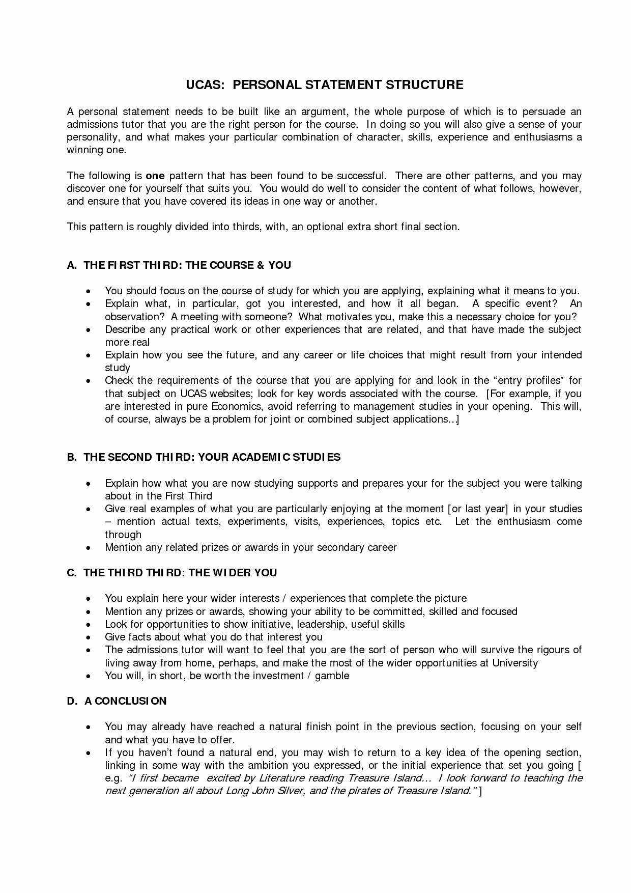 Academic Personal Statement Example Unique Template Uca Googl Grad School What Make A Strong