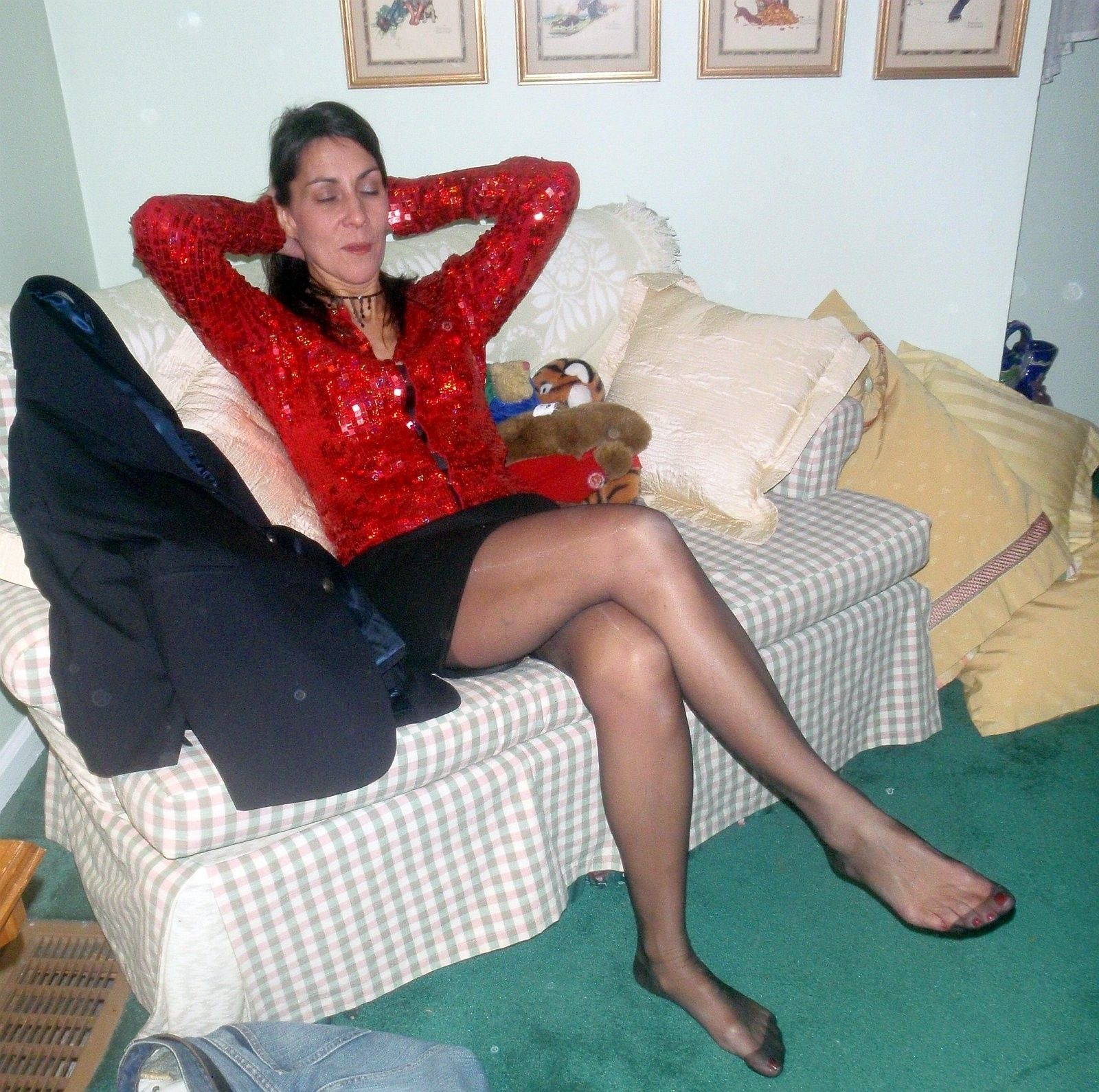 Mature legs and feet