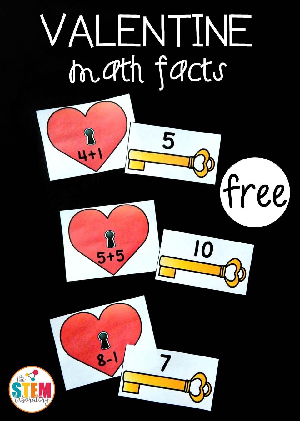 valentine math fact match | valentines ideas | pinterest | math