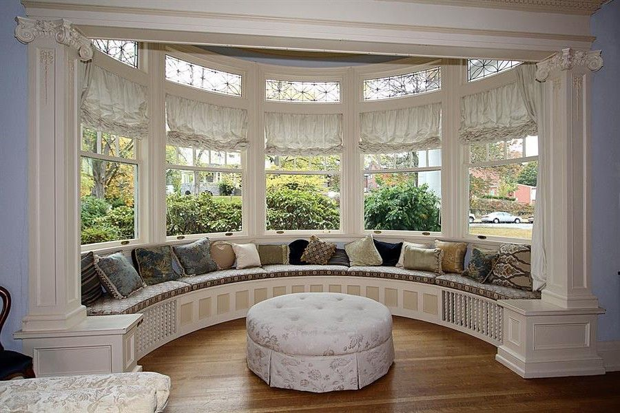Heavenly Round Bay Windows Design Ideas With Window Seats