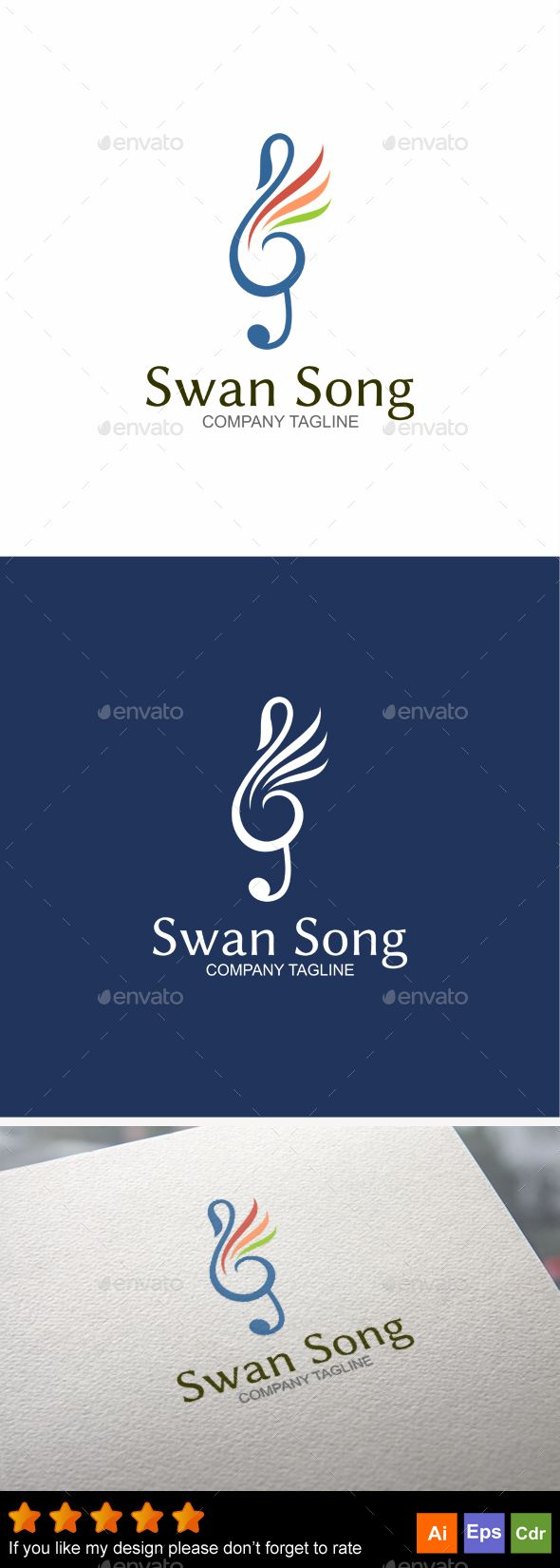 Swan Song - Abstract Logo Templates