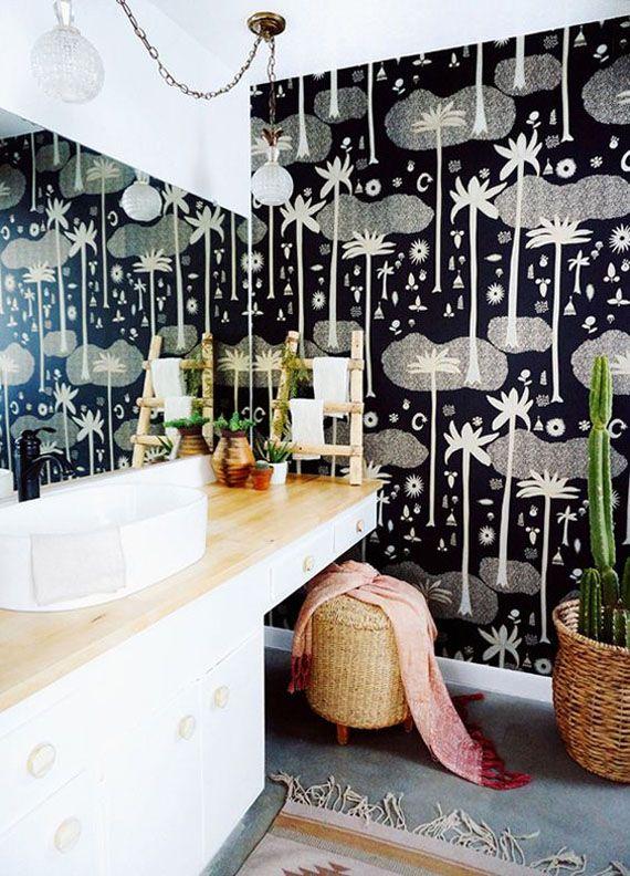 "Decorar con papel pintado: el ""tropical touch"" | Casas ..."