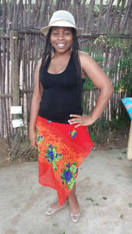 Wrap skirt from Tsonga (Shangaan) material.