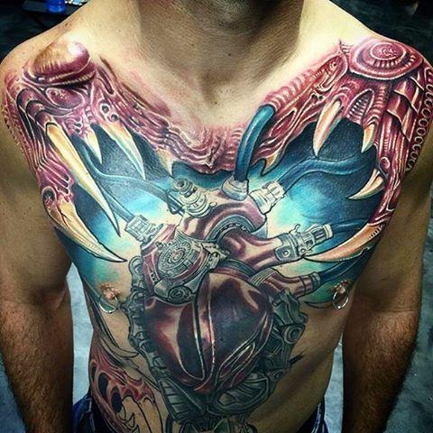 Pin On Biomechanical Tattoo