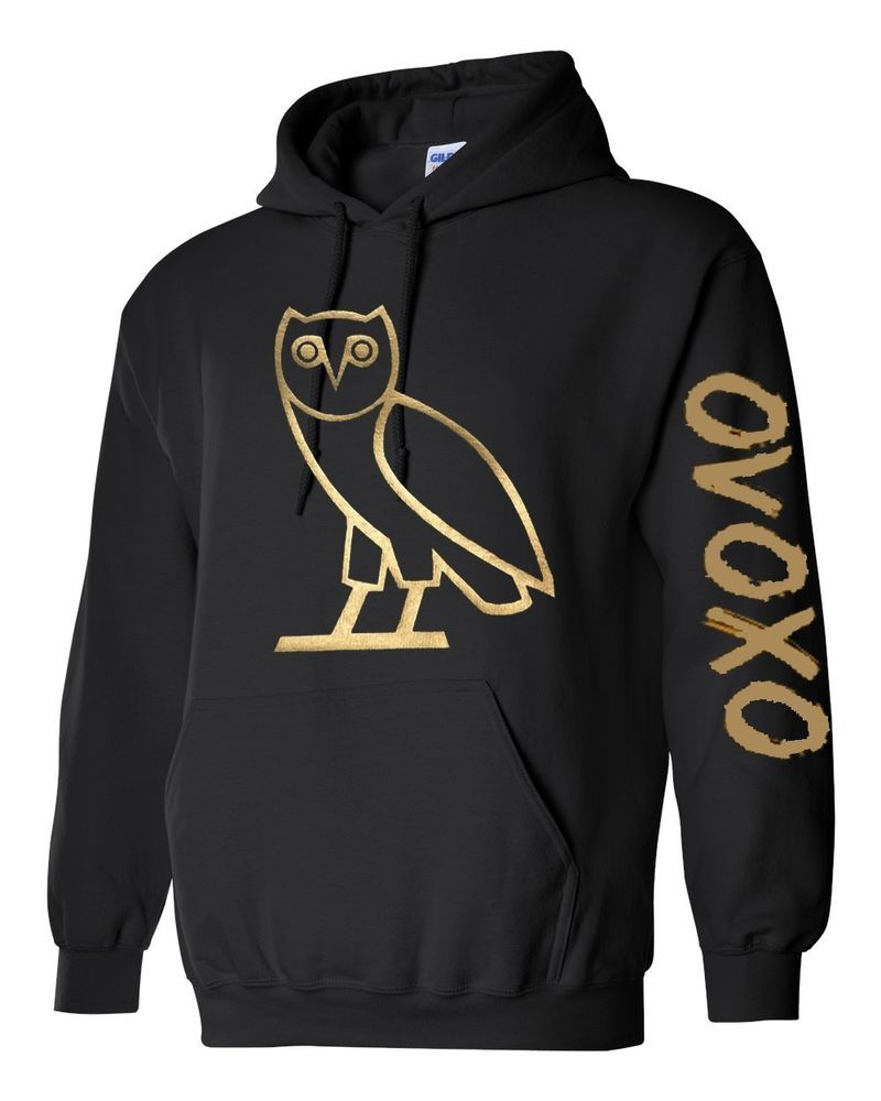 newest 4776a 36863 OVO Drake gold owl ovoxo Octobers very own weeknd hoodie New S-XL  sweatshirt  GildanJerzees  Hooded
