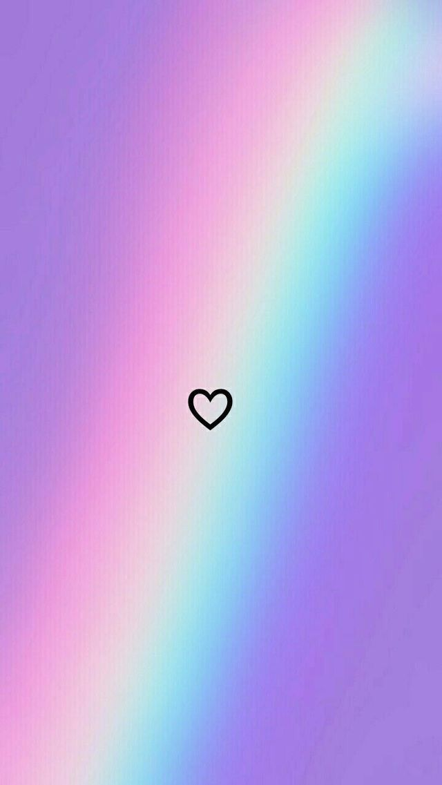 Phone Backgrounds 121737996165598092 - Rainbow Heart wallpaper Heart and rainbow - #Arch # Heart #