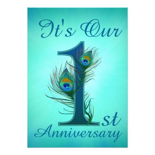 1st Anniversary Invitation Cards 1 Zazzle Com In 2020 1st Anniversary Anniversary Party Invitations Anniversary Invitations