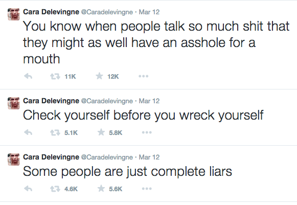 And each and every time she speaks her mind on Twitter. | 23 Times Cara Delevingne Proved She's A Brilliant Badass