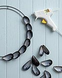 Mussel Shell Wreath -   12 mussel shell crafts