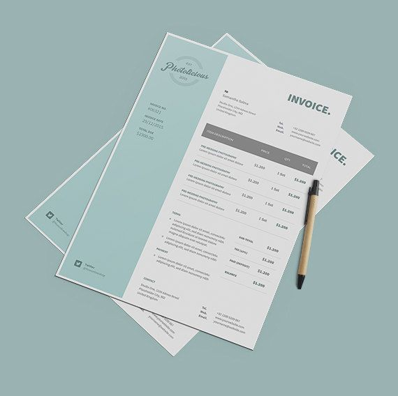 Professional Invoice Template Instant Download - Receipt Template - professional receipt