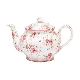 GreenGate Stoneware Teapot Round Abelone Raspberry H 15,5 cm