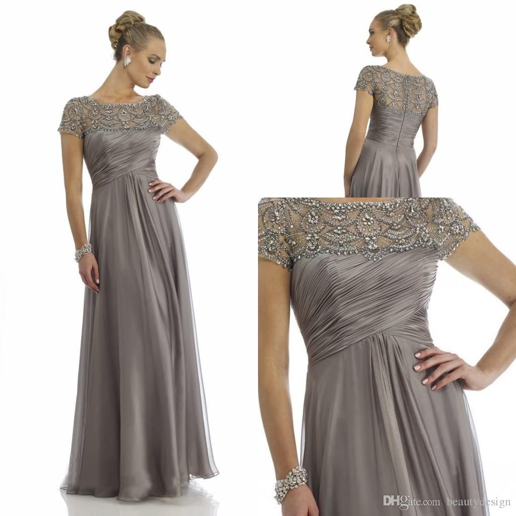 A Line Chiffon Mother of Bride Dresses