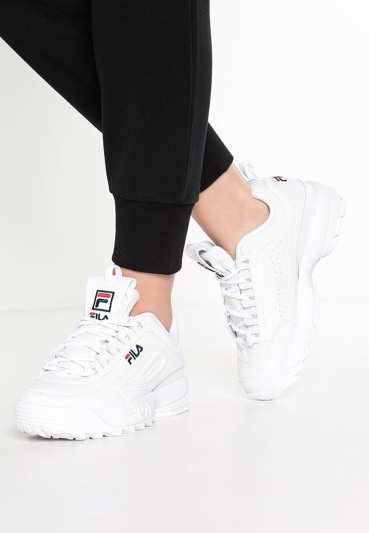 Fila DISRUPTOR LOW Sneakers laag white Zalando.nl
