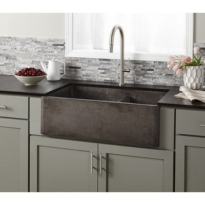 33 L X 21 W Double Basin Farmhouse Kitchen Sink Farmhouse Sink Kitchen Concrete Kitchen Kitchen Remodel