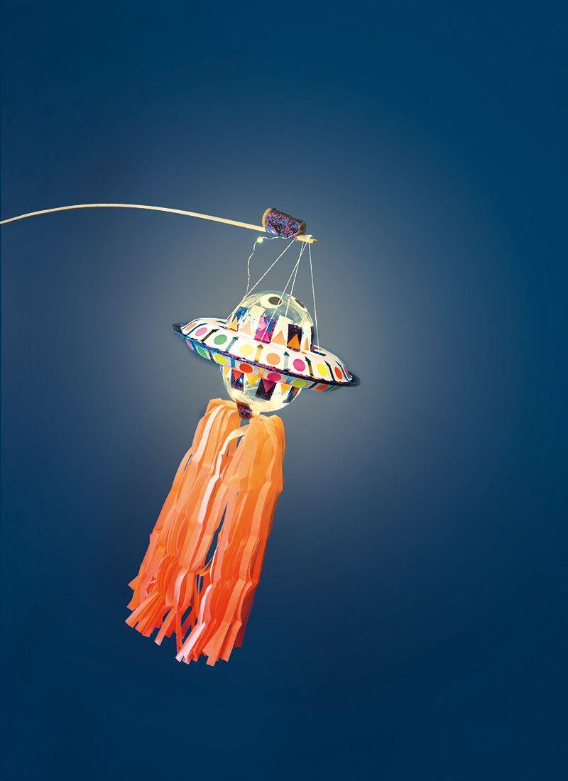 Ufo Laterne Basteln: DIY einfach und schnell für das nächste Laternenfest #laternebasteln