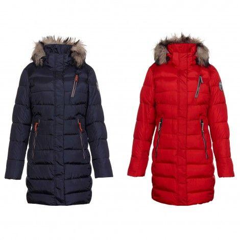 Deze #GIGA DX Akuna #winterjas voor dames is een #parka voor de modebewuste vrouw. Hij sluit mooi aan om het lichaam.