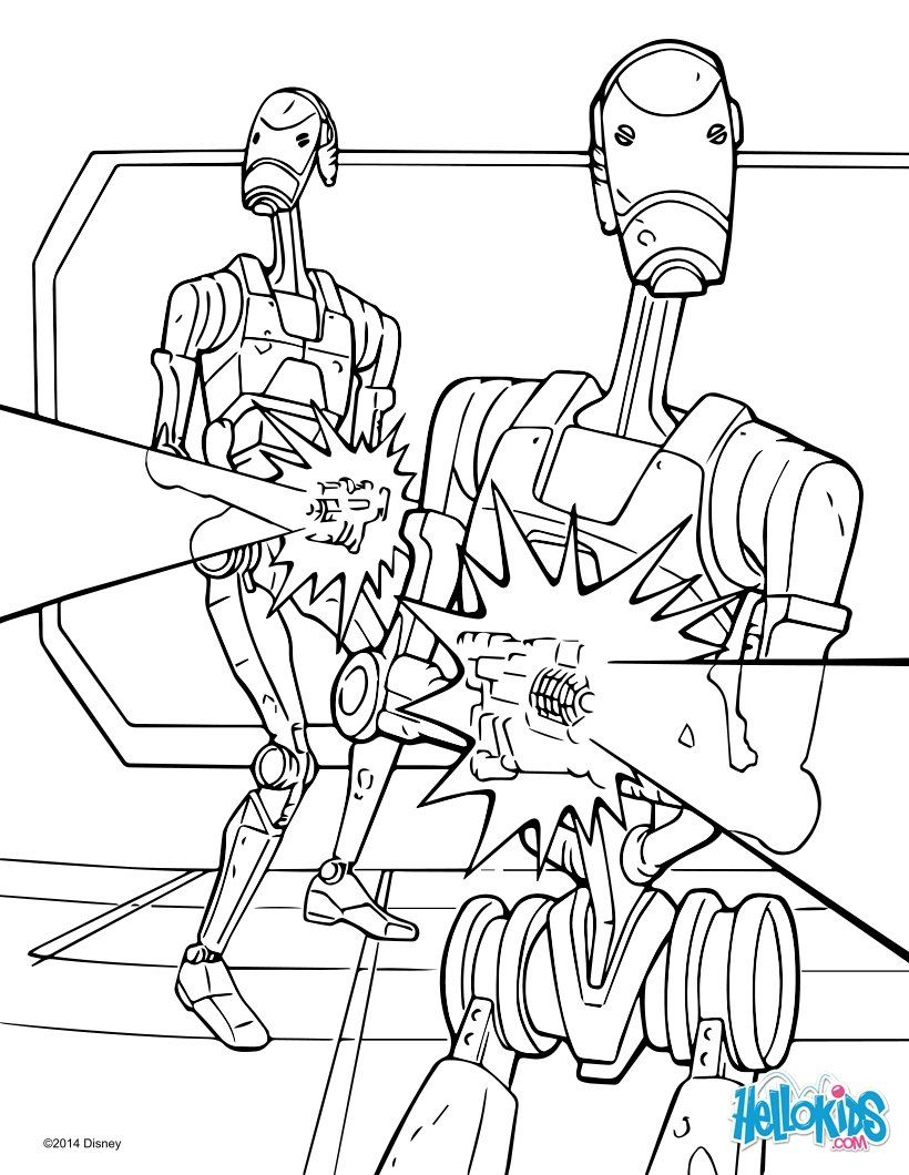 battle droids coloring page more star wars content on hellokidscom
