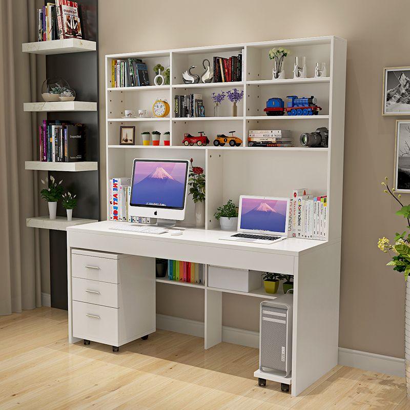 computer bureau met een eenvoudige moderne desktop boekenkast bureau boekenkast slaapkamer bureau bureau gecombineerd binnenlandse studenten
