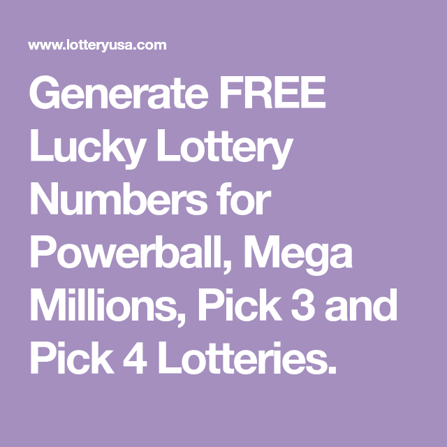 Generate FREE Lucky Lottery Numbers for Powerball, Mega