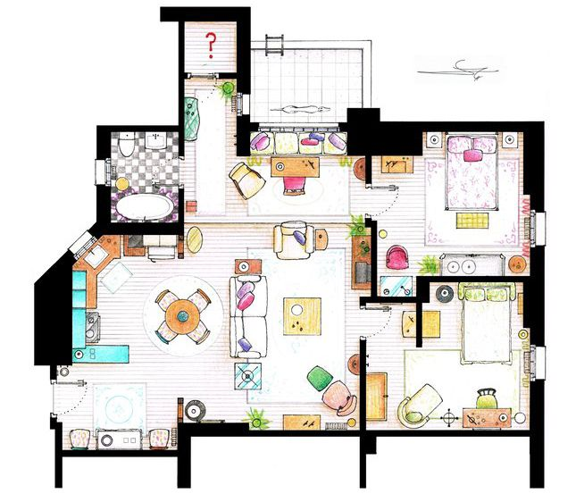 Floor Plans of your Favourite TV Shows - COOL! | Decorate ...