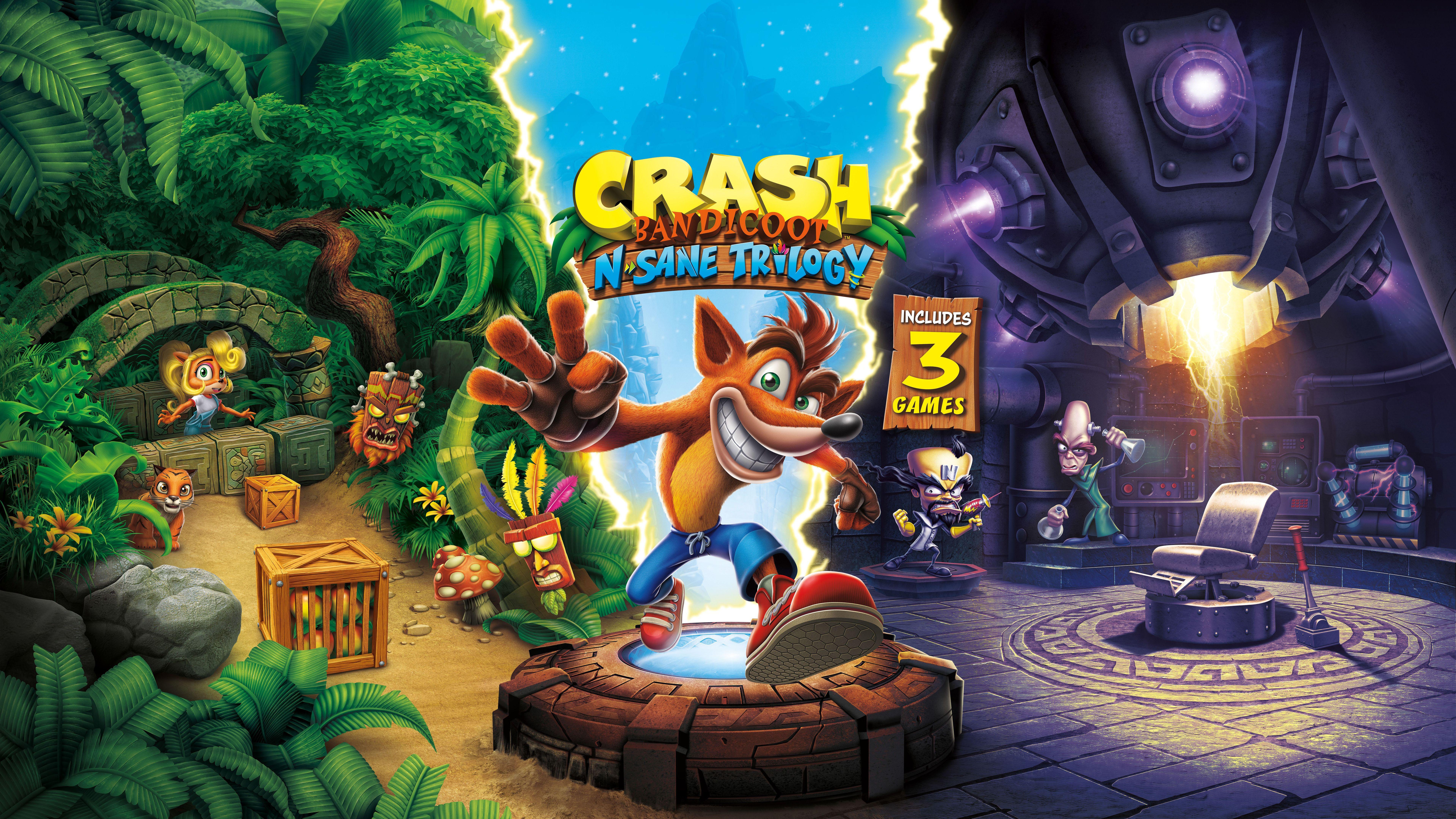 Crash Bandicoot N Sane Trilogy 10k Wallpaper Crash Bandicoot