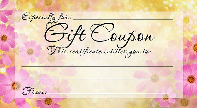 Birthday Gift Certificate Printouts | Free Printable Massage
