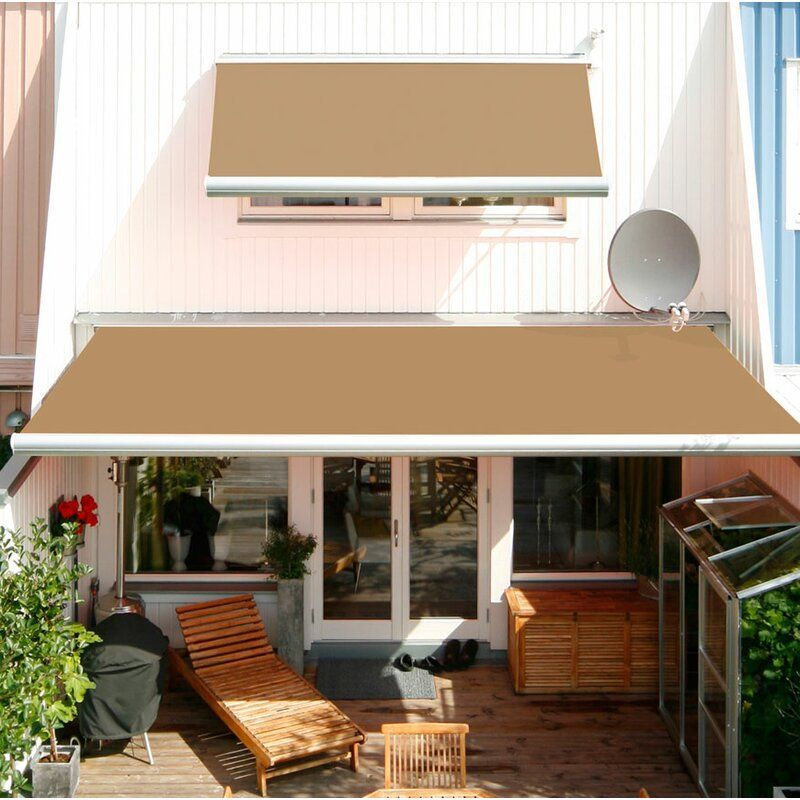 Luxury Series Electric Retractable Dual Wall Soffit Patio Awning In 2020 Patio Awning Awning Patio Design