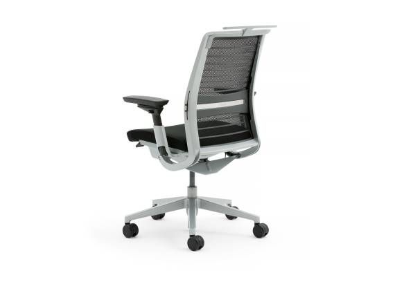The enviornment-friendly Think ergonomic office chair features a weight-activated seat and is designed to intuitively adjusting itself.