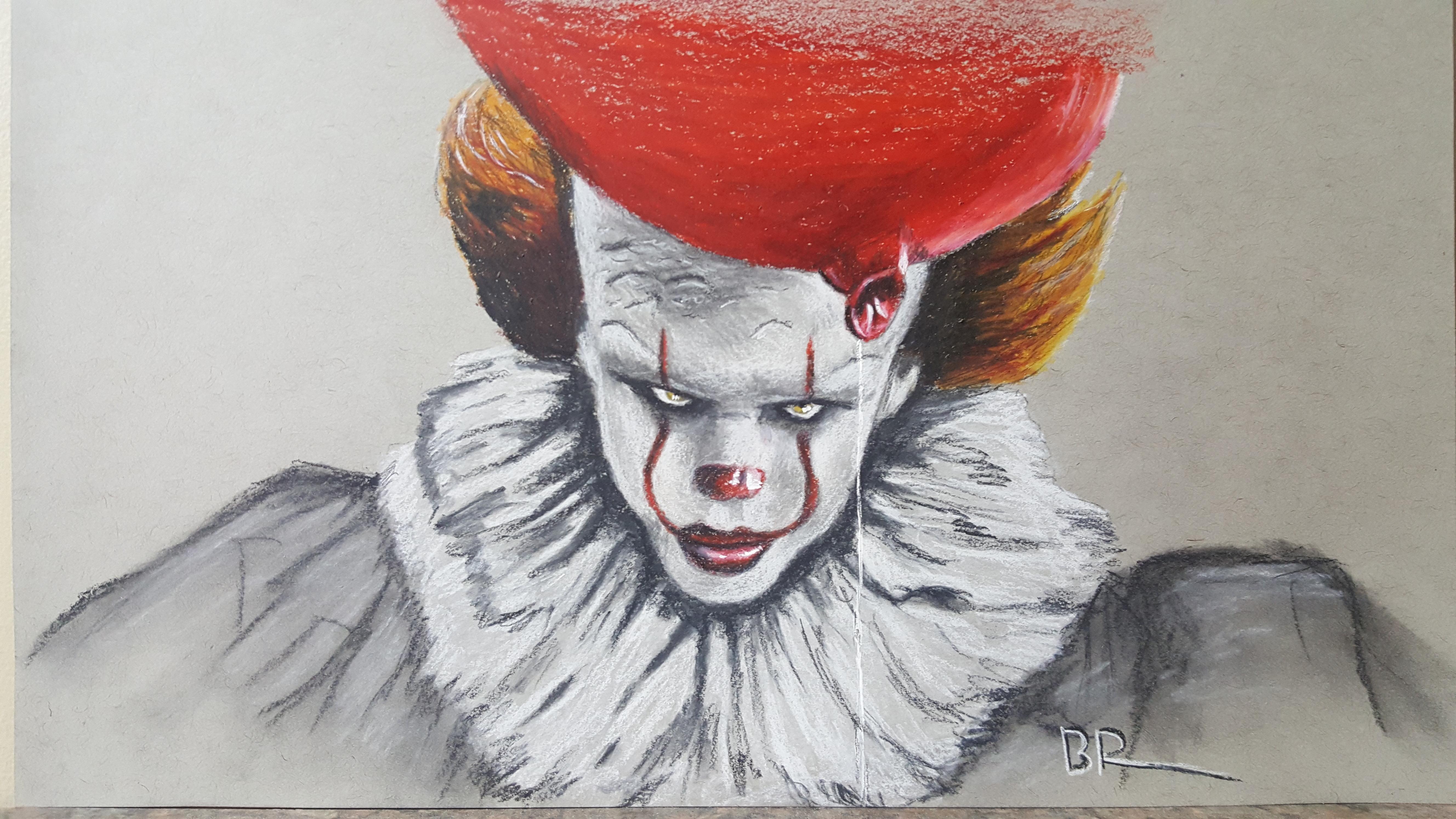 Рисунки клоун оно
