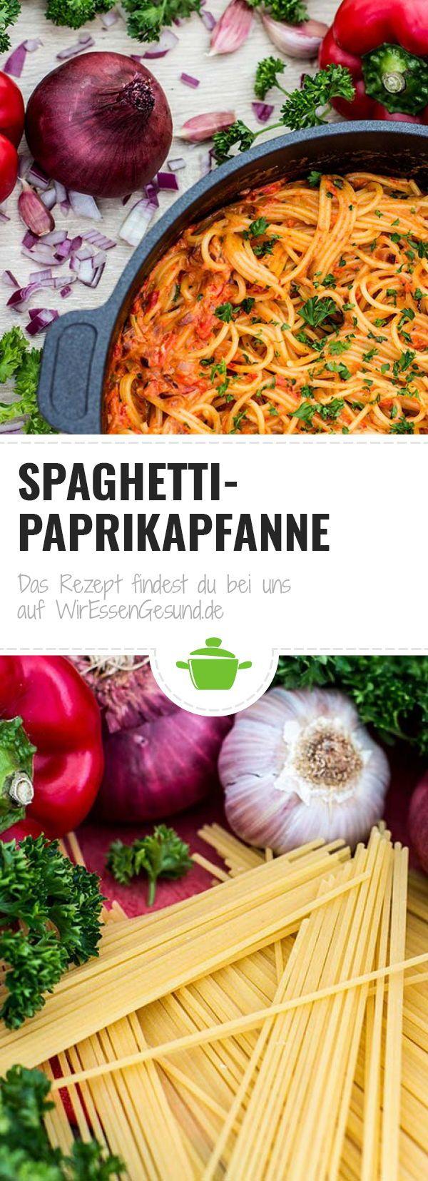 Spaghetti Paprikapfanne - WirEssenGesund
