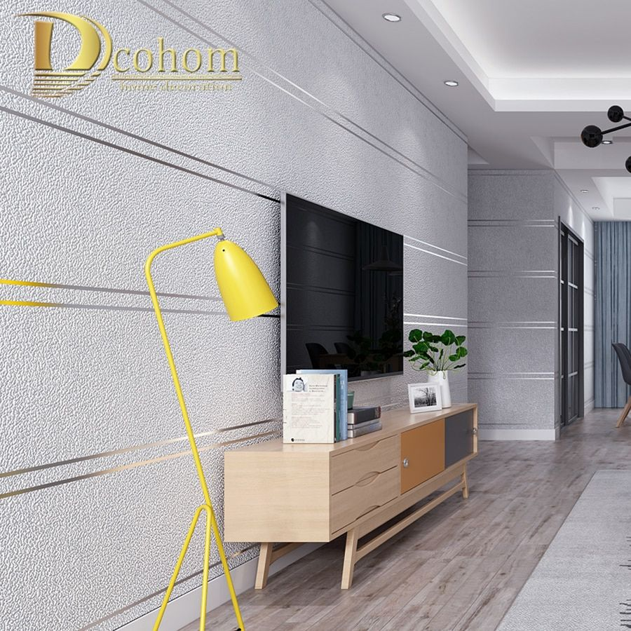 Find More Wallpapers Information About Modern Simple Suede Marble Stripes Wallpaper For Walls Roll Papel De Parede 3d Non Woven Desktop Wall P Striped Wallpaper Wall Wallpaper Living Room Bedroom Room wall wallpaper info
