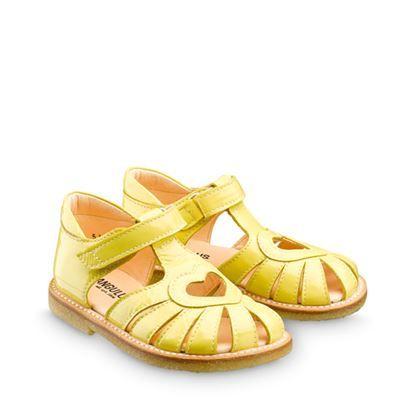 2b53cf1f7d64 ANGULUS SS14 Kids Sandals STYLE B5186 Yellow Patent
