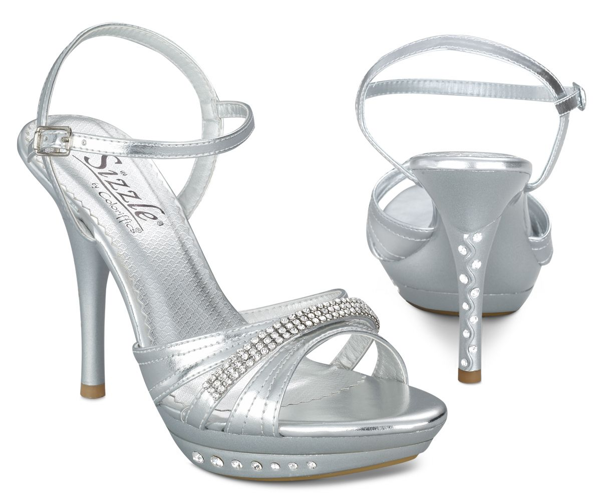 7192b425bbd Silver Milan Prom Shoes by Coloriffics Sizzle Shoes  70.07 ...