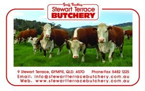 Geoff Buckley Stewart Terrace Butchery Family Owned Run We Have