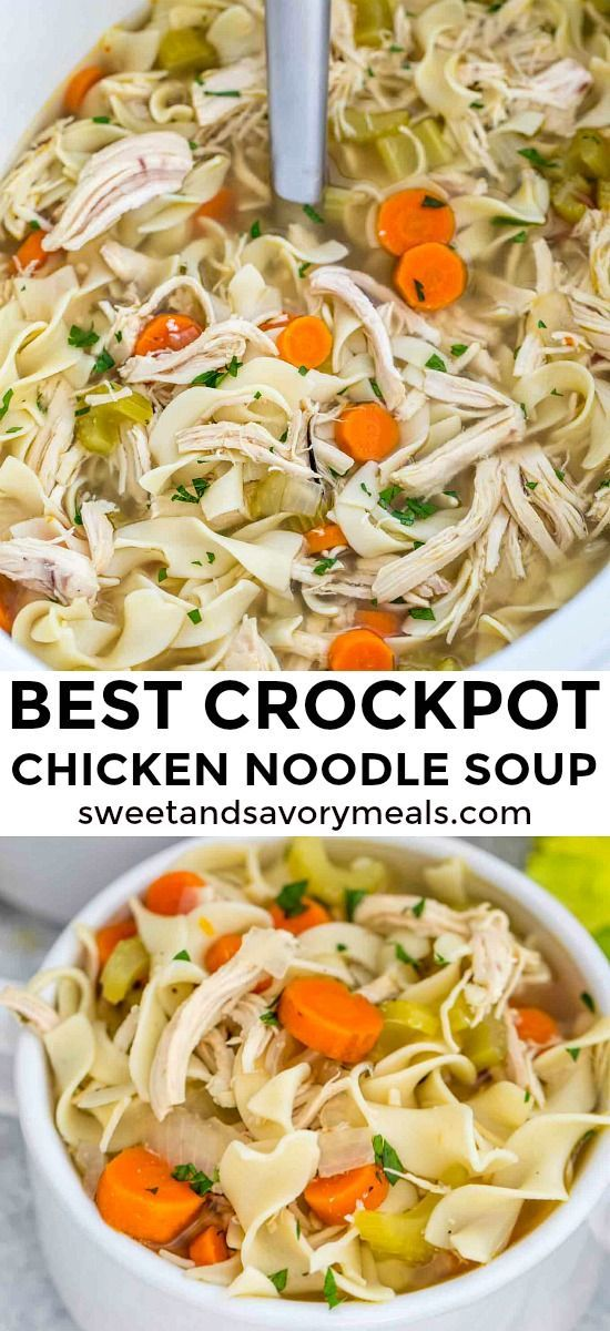 Photo of Crockpot Chicken Noodle Soup [Video] – Sweet and Savory Meals #crockpotrecipes