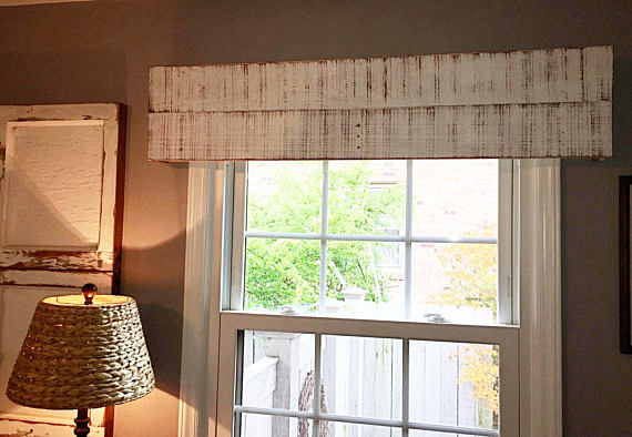 Need A Rustic Wooden Valance To Bring Style To An Old Window Or Do