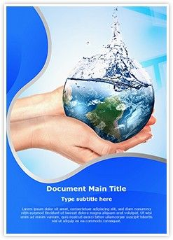 Save Water Ms Word Template Is One Of The Best Ms Word Templates